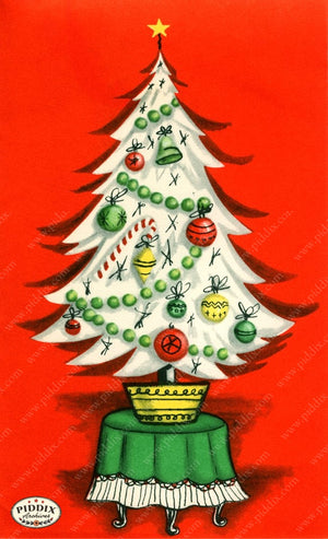 Pdxc18979A -- Christmas Trees Color Illustration