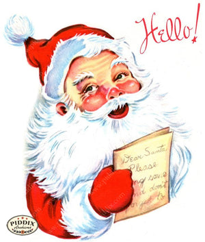 PDXC18985a-- Santa Claus Color Illustration