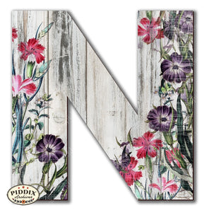 Pdxc19102 -- Wooden Letter N Original Art