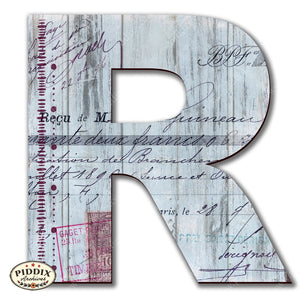 Pdxc19104 -- Wooden Letter R Original Art