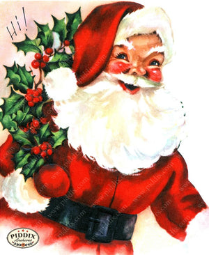 PDXC19121a -- Santa Claus Color Illustration