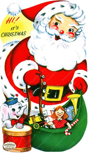 PDXC19123a -- Santa Claus Color Illustration