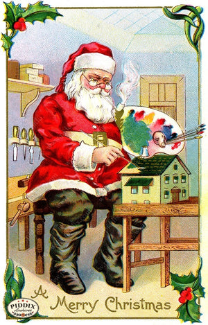 PDXC19125a -- Santa Claus Color Illustration