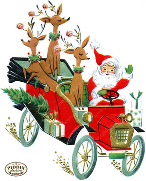 PDXC19132b -- Santa Claus Color Illustration
