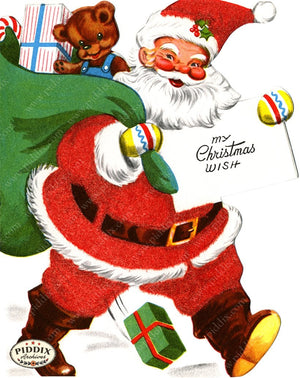 PDXC19133a -- Santa Claus Color Illustration