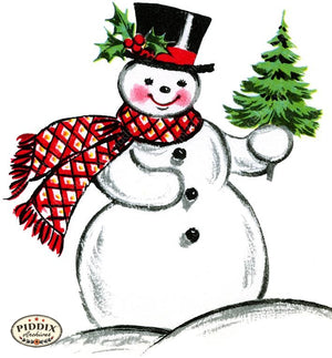 PDXC19135c -- Snowmen women Color Illustration