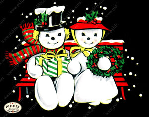 PDXC19149b -- Snowmen women Color Illustration