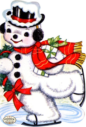 PDXC19152a -- Snowmen women Color Illustration