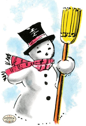 PDXC19156d -- Snowmen women Color Illustration