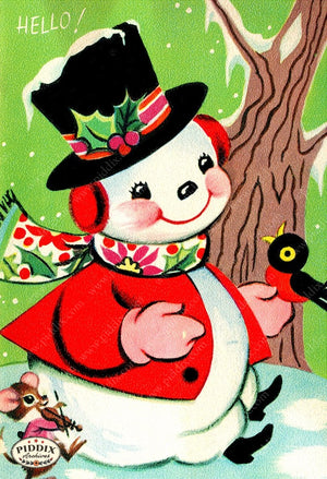PDXC19157a -- Snowmen women Color Illustration