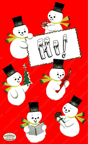 PDXC19159b -- Snowmen women Color Illustration