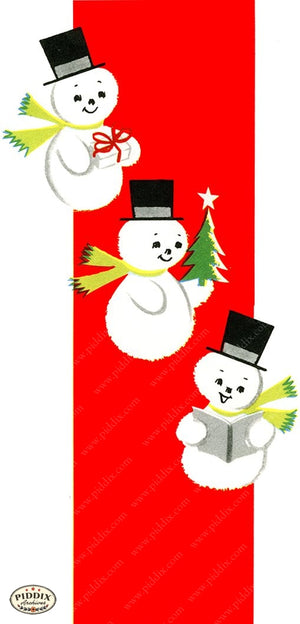 PDXC19159c -- Snowmen women Color Illustration