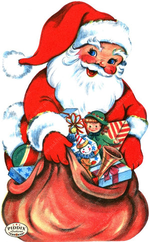 PDXC19163a -- Santa Claus Color Illustration