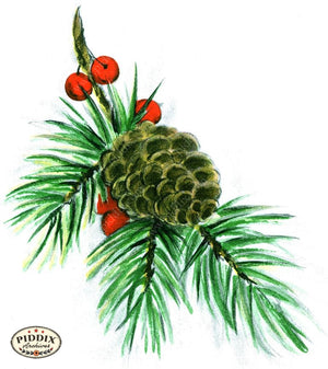 PDXC19170d -- Christmas Greens Color Illustration