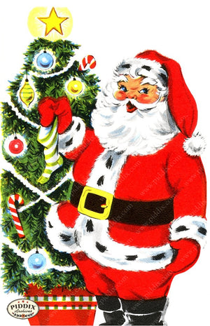 PDXC19171a -- Santa Claus Color Illustration
