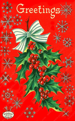 PDXC19173a -- Christmas Words Color Illustration