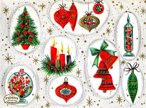 PDXC19463a -- Christmas Ornaments Color Illustration