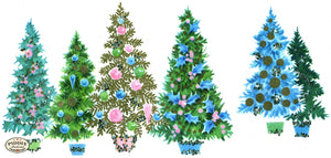 PDXC19477a -- Christmas Trees Color Illustration