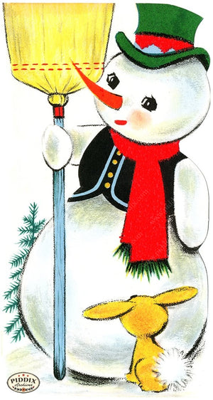 PDXC19478a -- Snowmen women Color Illustration