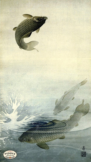 PDXC19514 -- Japanese Fish Woodblock