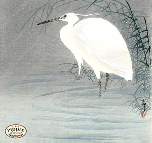 PDXC19519 -- Japanese Egret Woodblock