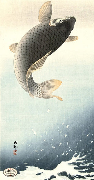 PDXC19520 -- Japanese Fish and Water Woodblock