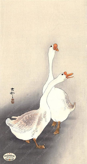 PDXC19521 -- Japanese Geese Woodblock