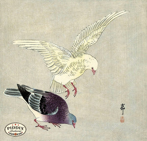 PDXC19528 -- Japanese Birds Woodblock