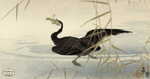 PDXC19529 -- Japanese Bird and Grass Woodblock