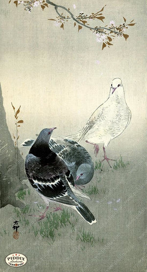 PDXC19535 -- Japanese Birds Woodblock