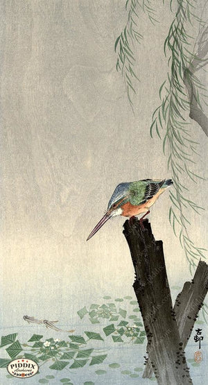 PDXC19536-- Japanese Bird Woodblock