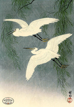 PDXC19545 -- Japanese Birds and Trees Woodblock