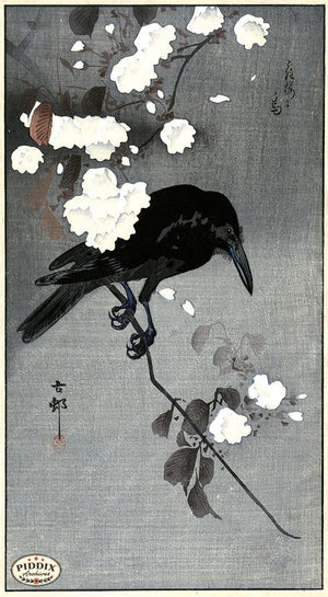 PDXC19546 -- Japanese Bird and Flowers Woodblock
