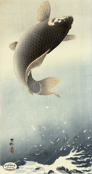 PDXC19552-- Japanese Fish Woodblock