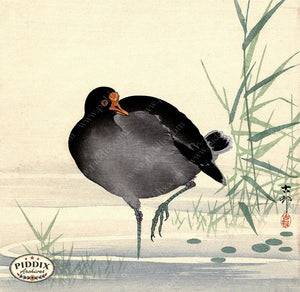 PDXC19563-- Japanese Bird and Grass Woodblock