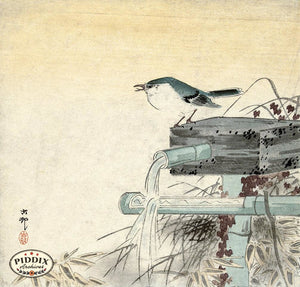 PDXC19564-- Japanese Bird Woodblock