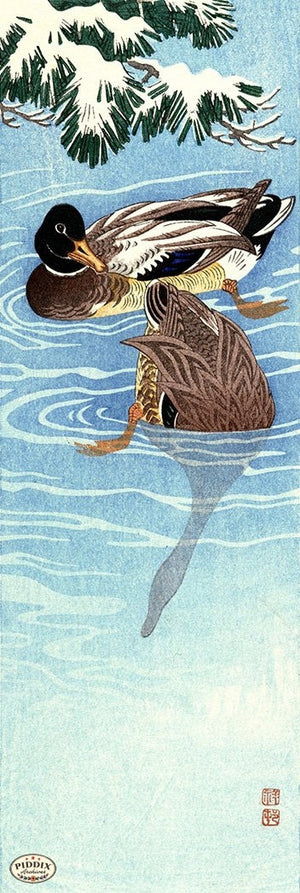 PDXC19581-- Japanese Ducks Woodblock