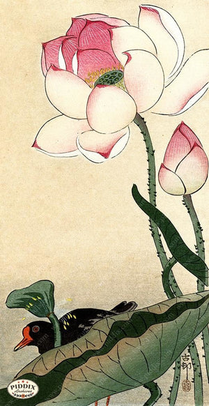 PDXC19582 -- Japanese Flower and Bird Woodblock