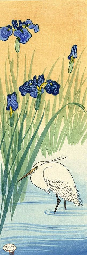 PDXC19587 -- Japanese Bird and Flowers Woodblock