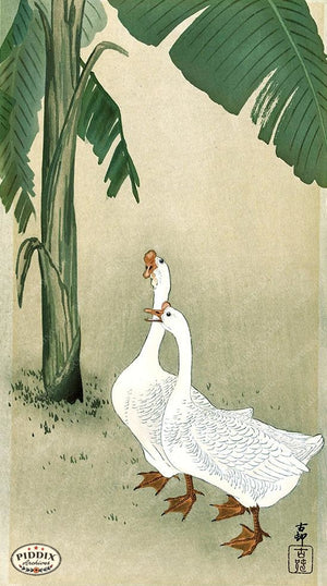 PDXC19595 -- Japanese Geese Woodblock