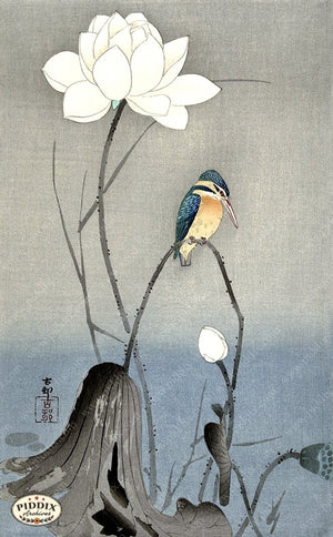 PDXC19600 -- Japanese Bird and Flower Woodblock