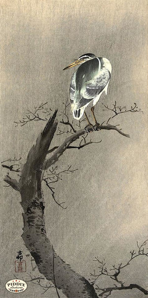 PDXC19611 -- Japanese Bird Woodblock