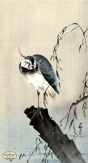 PDXC19638 -- Japanese Bird Woodblock