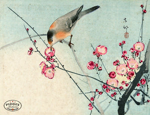 PDXC19650 -- Japanese Bird and Flowers Woodblock