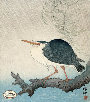 PDXC19659 -- Japanese Bird Woodblock