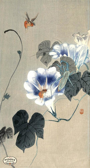 PDXC19660 -- Japanese Flowers and Insects Woodblock