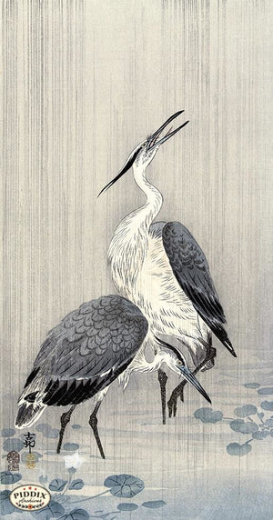 PDXC19667 -- Japanese Heron Woodblock