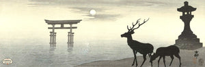 PDXC19689 -- Japanese Deer Woodblock