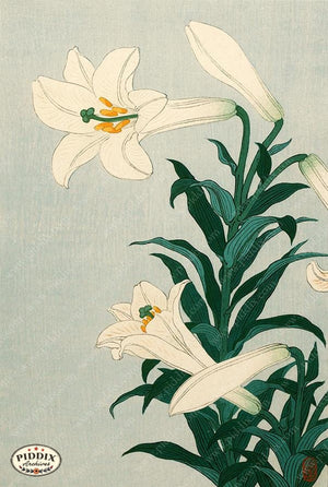 PDXC19696 -- Japanese Lilies Woodblock