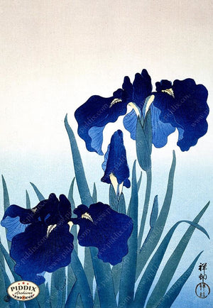 PDXC19703 -- Japanese Irises Woodblock